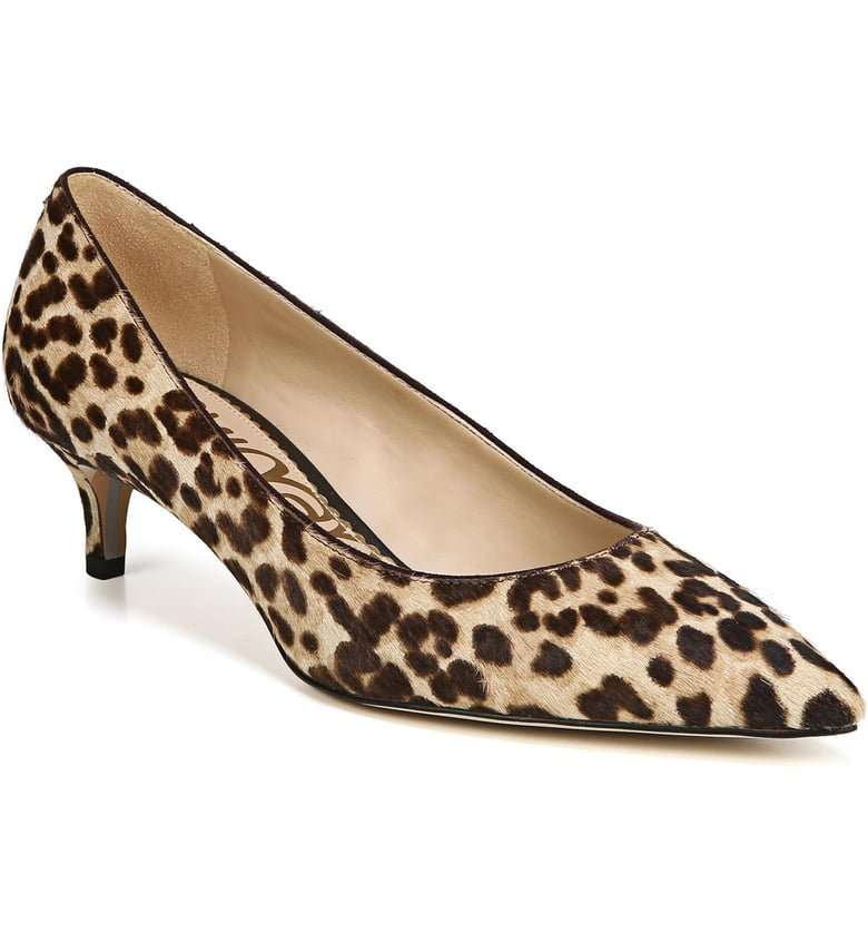Sam Edelan Leopard Kitten Heel Shoes