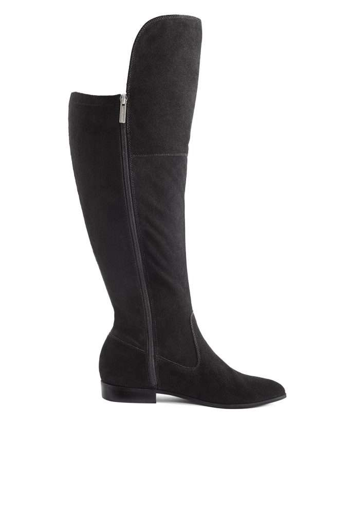 Part & Parcel extra extra wide calf suede leather over the knee boot