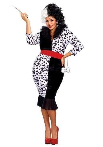 Dalmatian Diva Plus Size Halloween Costume