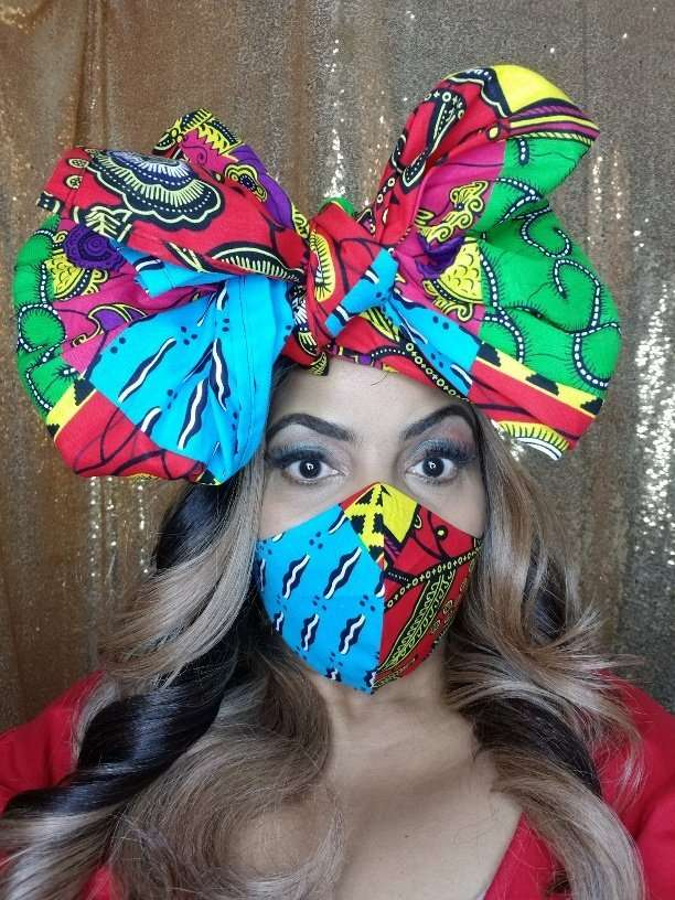 Headwrap and facemask set