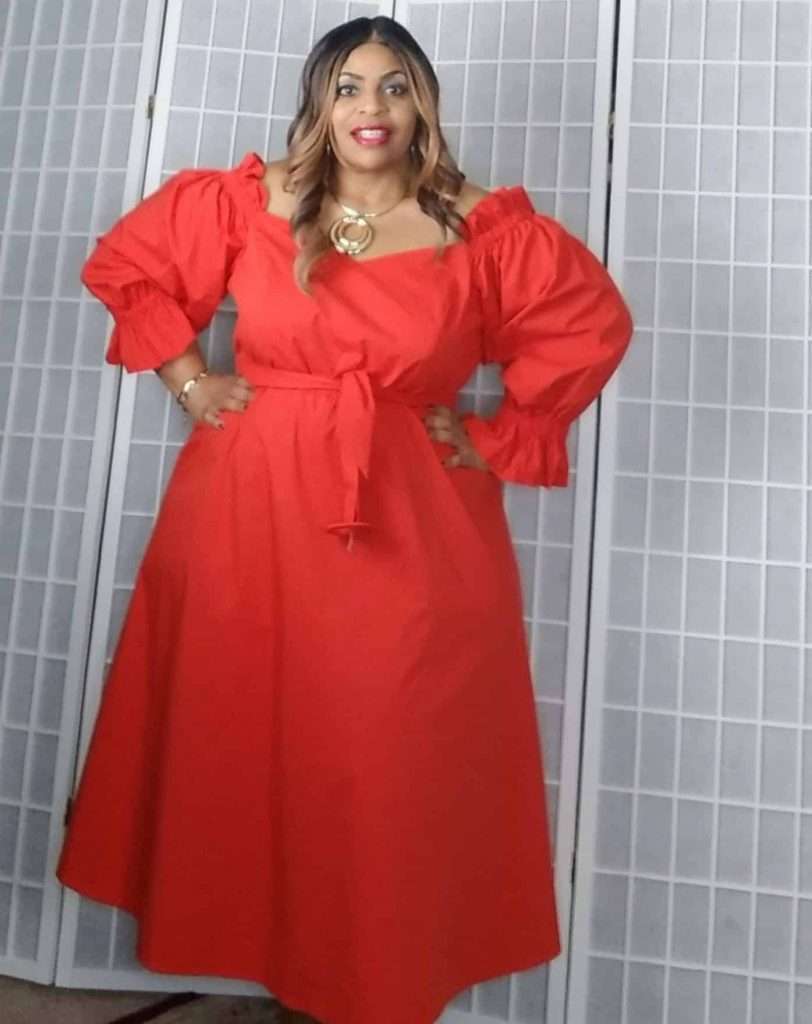 Eloquii Plus size red dress