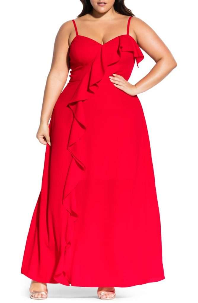 City Chic Catalina Red Plus Size Maxi Dress