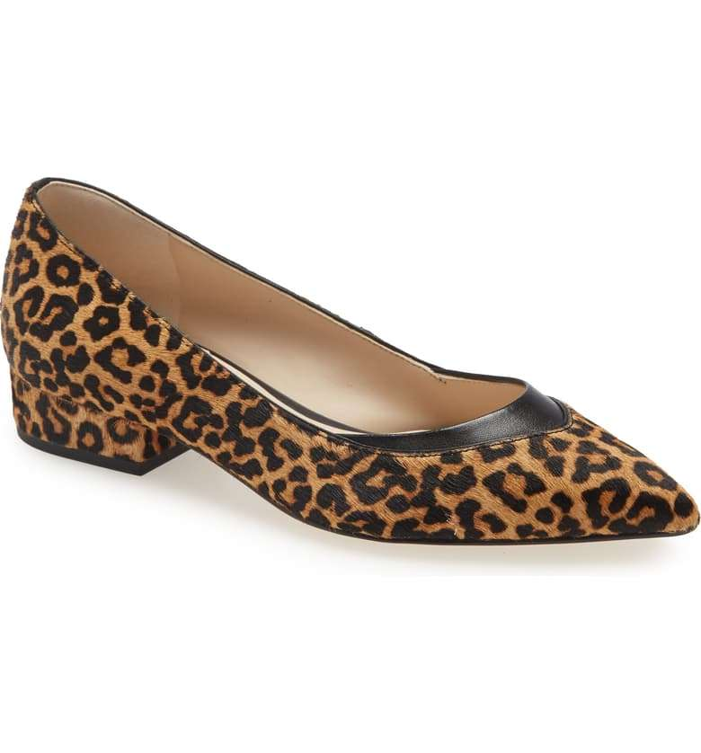 Cole Haan Vail Genunuine Calf Hair Leopard Skimmer Flat Shoe