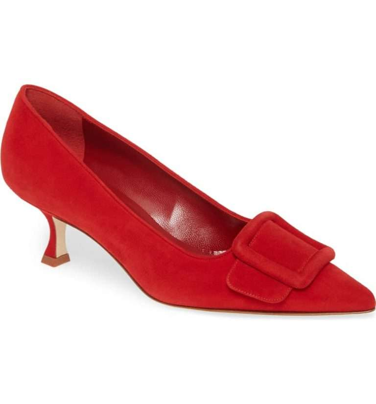 Manolo-Blahnik-Maysale-Buckle-Pointed-Toe-Pump