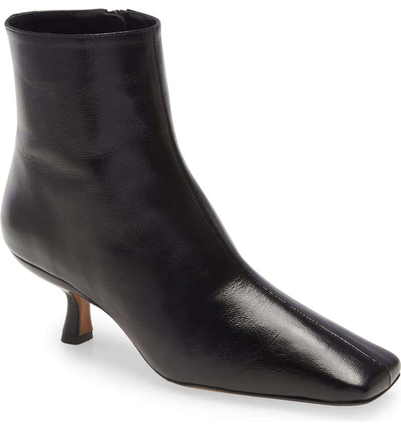 Lange Square Toe Kitten Heel Boot