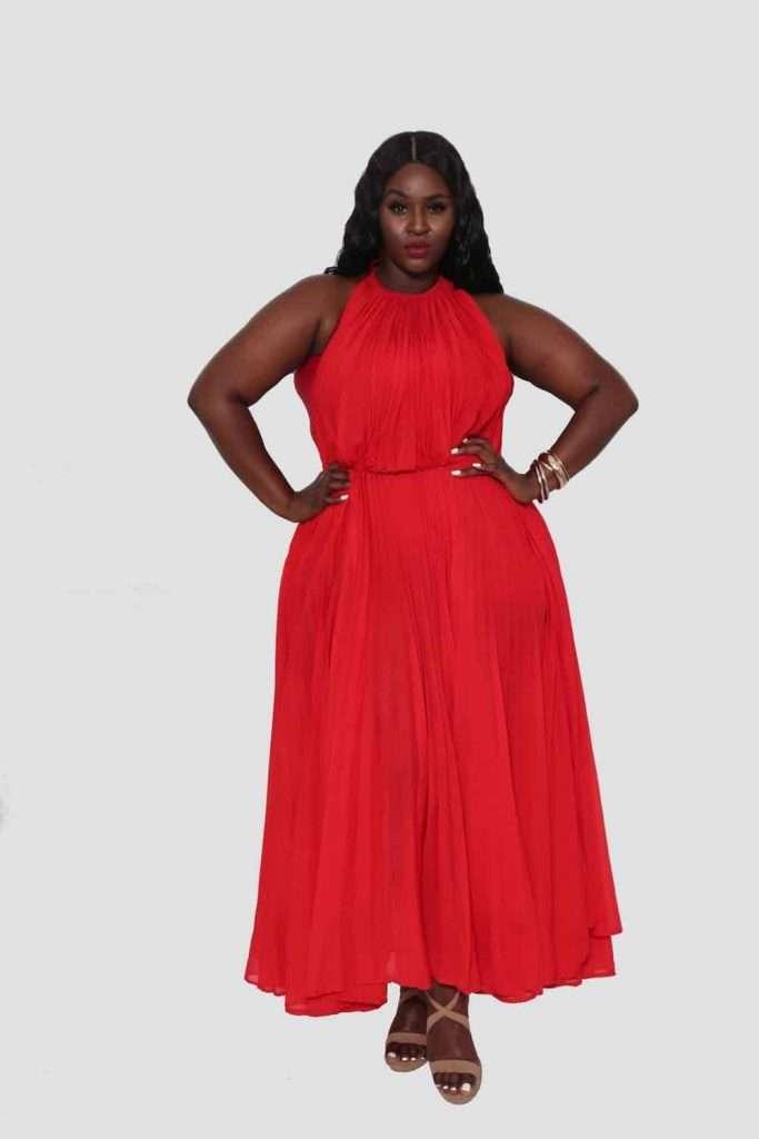 Belle - Courtney Noelle Designs Plus Size Red Dress