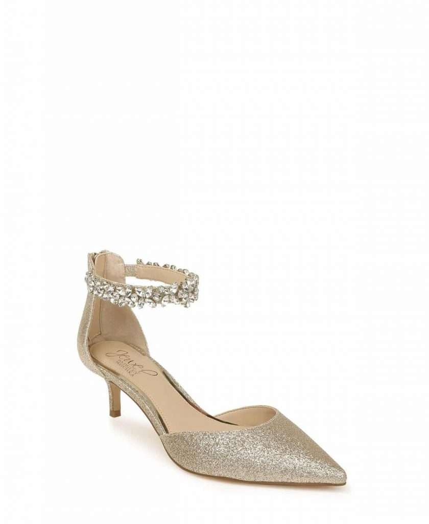 Robles Evening Pumps Badgley Mischka Kitten Heel Shoes