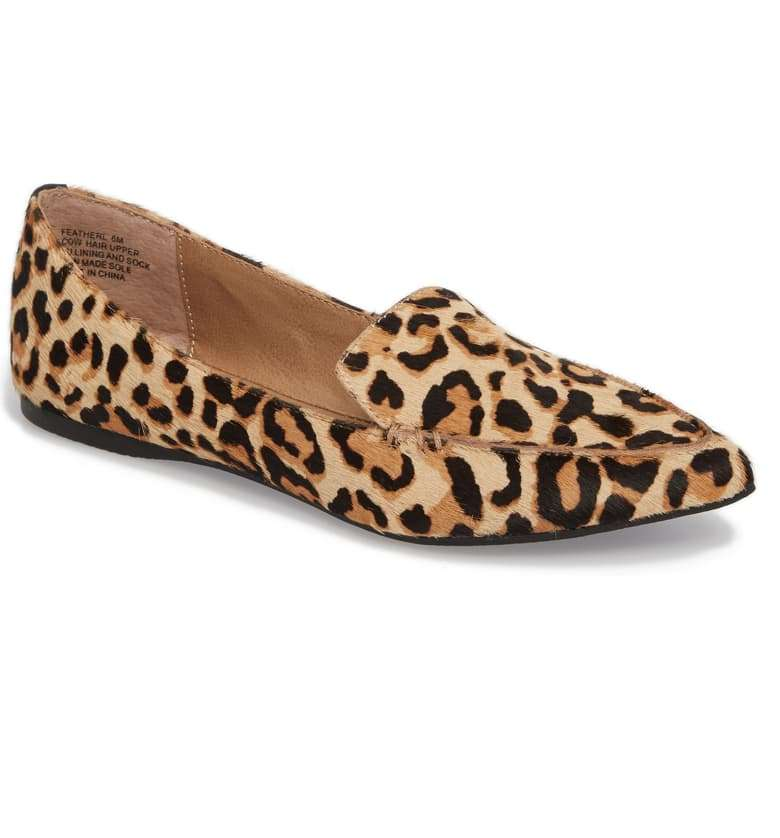 Steve Madden Feather Genuine Calf Hair Leopard Loafer