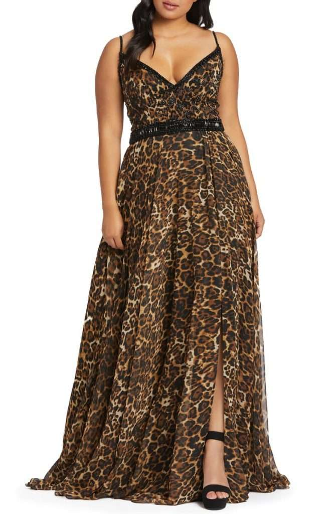 Plus Size Leopard Mac Dougal Cheetah Print Chiffon