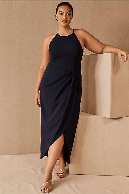 BHLDN Marceau Black Plus Size Bridesmaid Dress