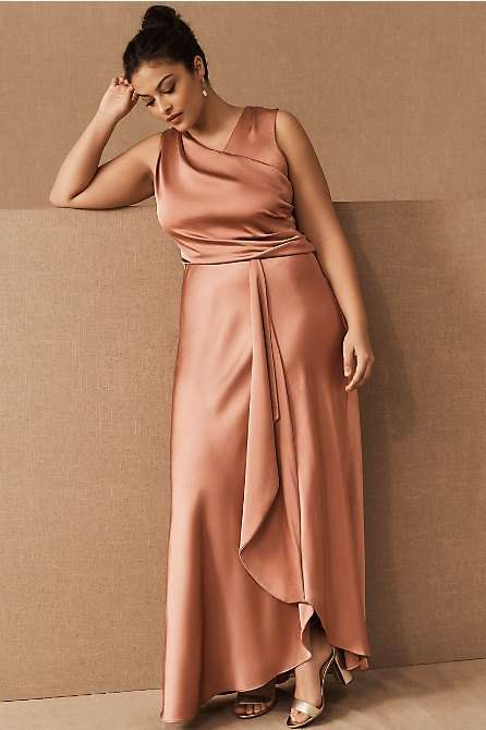 BHLDN Espen Rose Gold Plus Size Bridesmaid Dress
