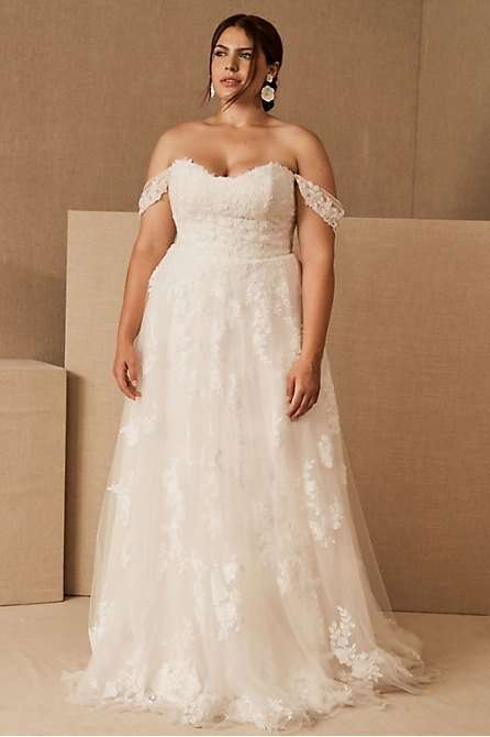 BHLDN Samaire Plus Size Wedding Dress Ballgown