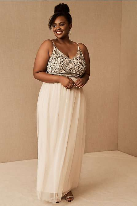 BHLDN Vilette Grecian Plus Size Bridesmaid Dress