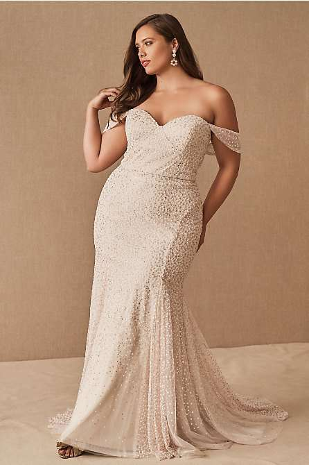 Hayley Paige Ricci Plus Size Mermaid Wedding Gown