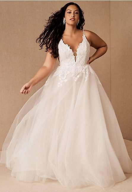 Hayley-Paige-Topanga-Plus Size Wedding Dress