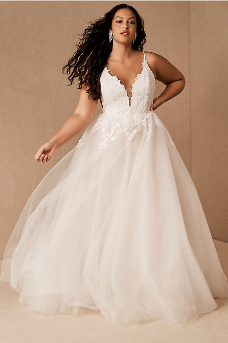 Hayley Paige Topanga Plus Size Wedding Gown