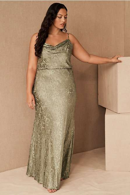 Jenny Yoo Dahlia Olive Plus Size Bridesmaid Dress