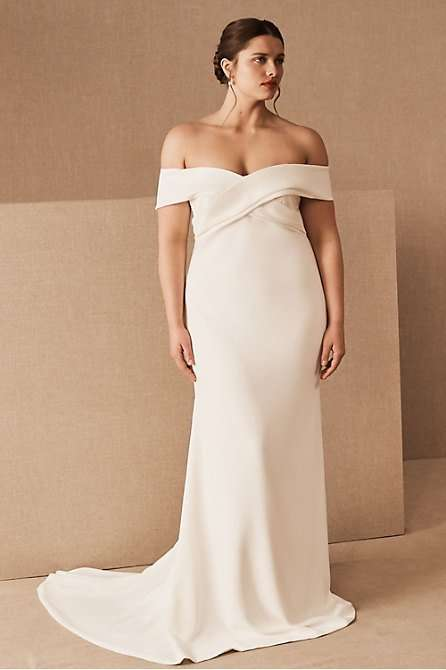 Theia Blake Plus Size Wedding Dress Mermaid Gown