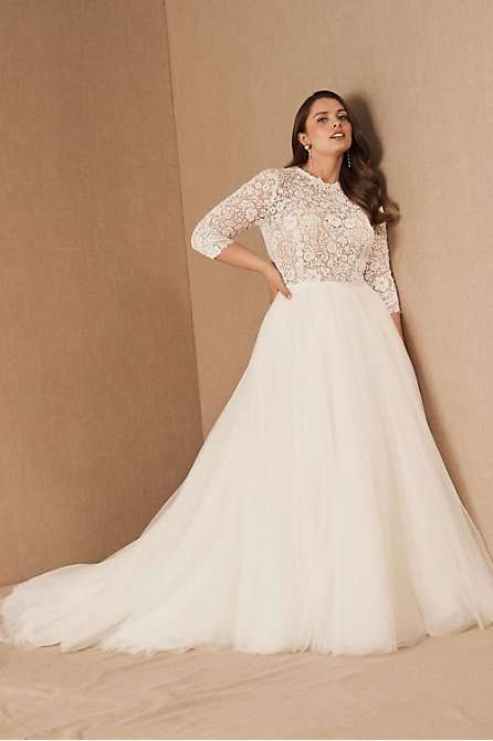 Watters Brides Frederique Ballgown Plus Size Wedding Dress