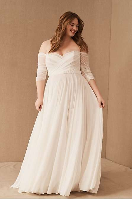 Woo by Watters Miles Aline Plus Size Wedding Gown