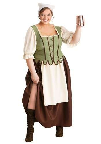 Medieval Pub Wench Plus Size Halloween Costume