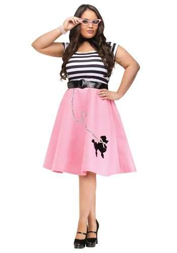 Poodle Skirt 50s Girl Plus Size Halloween Costume
