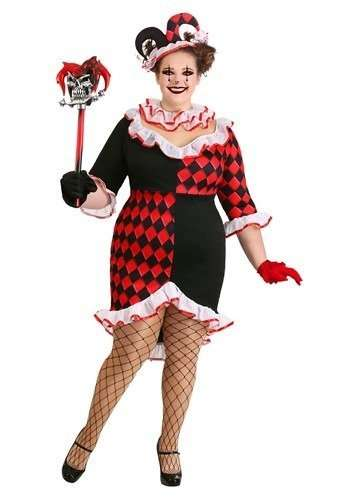 Haute Harlequin Plus Size Halloween Costume