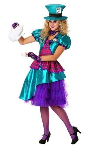 Teal Mad Hatter Plus Size Halloween Costume