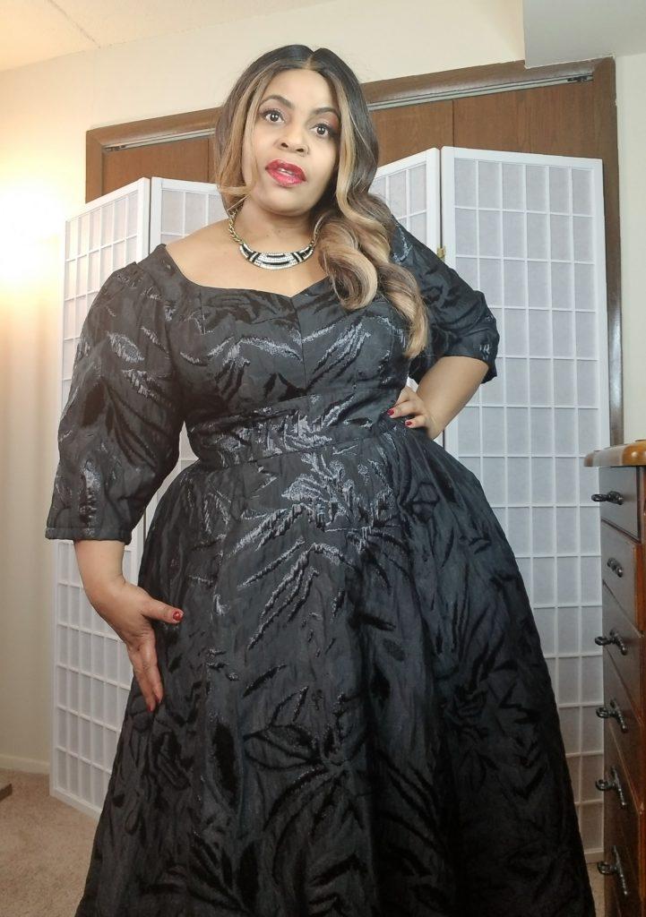 Black custom plus size little black dress
