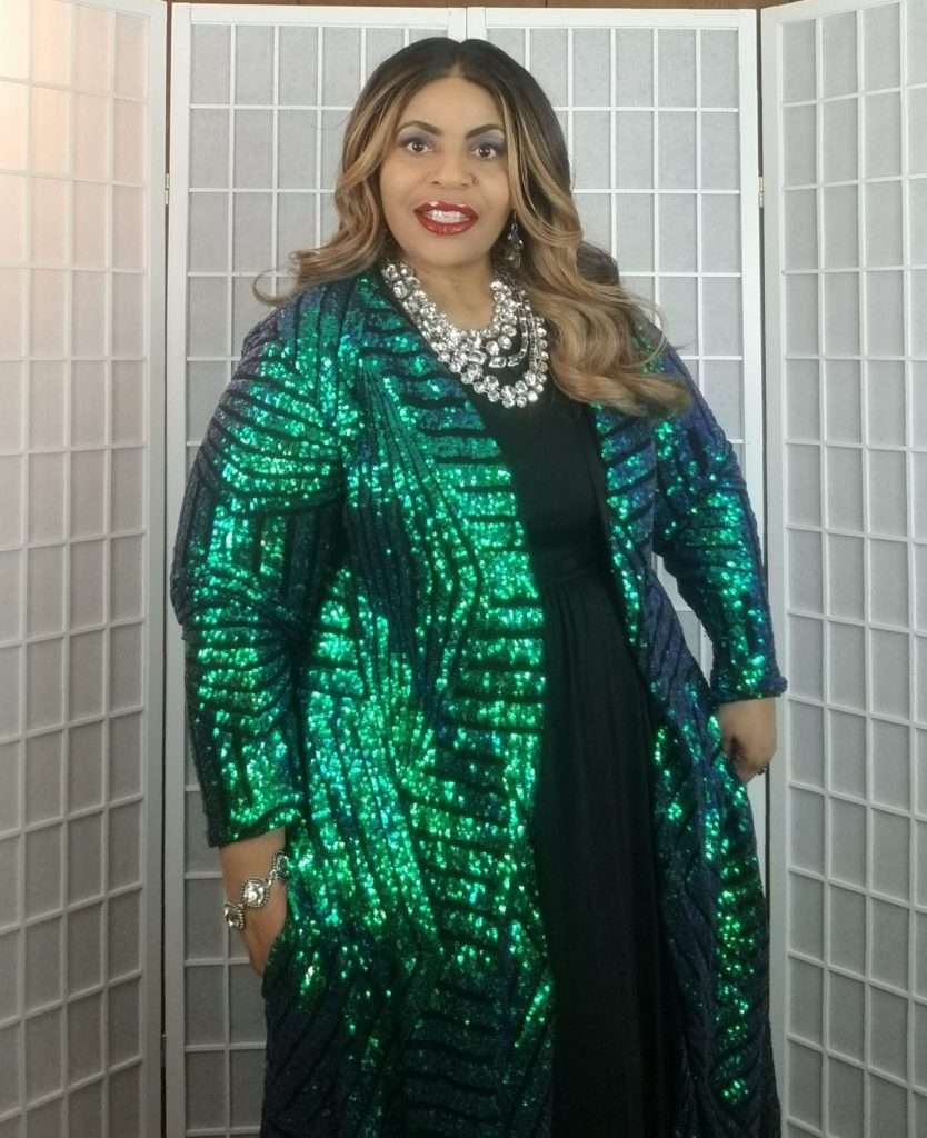 Courtney Noelle Kat Teal Plus Size Duster
