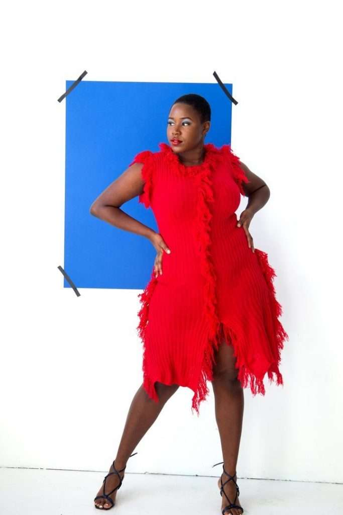 Nakimuli Red Plus Size Dress