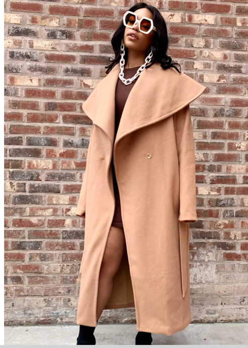 Rebdolls Beige Plus Size Winter Coat