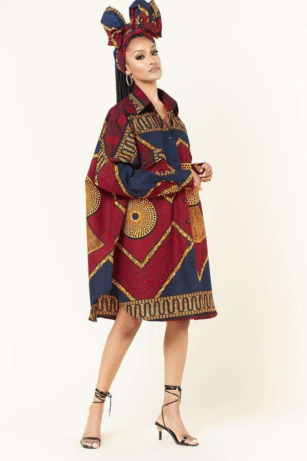 Grass-Fields plus size African outfits